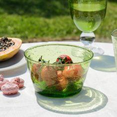 Green Bubble Glass Salad Bowl