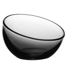 Curved Smoked Glass Bowl