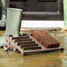 Cast Iron Boot Scraper and Boot Brush