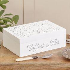 White Wooden Vine Tea Box