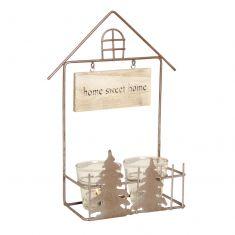 Home Sweet Home Wall Mounted Tea Light Holder