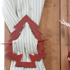 Red French Chalet Curtain Tie