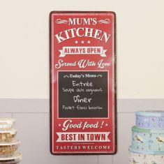 Mum's Kitchen Vintage Kitchen Chalkboard