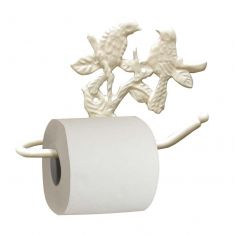 Ivory Perched Birds Toilet Roll Holder