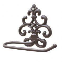 Cast Iron Ornate Toilet Roll Holder