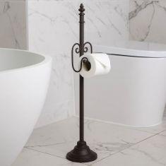Ornate Scrolled Freestanding Toilet Roll Holder