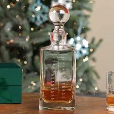 Personalised Christmas Advent Decanter with A5 Forest Green Gift Box