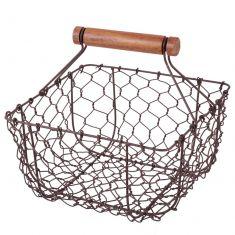 Farmhouse Chicken Wire Trug