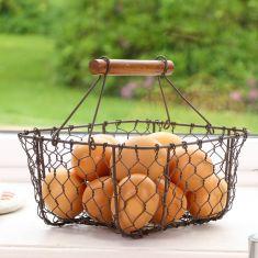 Farmhouse Kitchen Chicken Wire Egg Basket