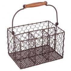 Farmhouse Chicken Wire Cutlery Caddy