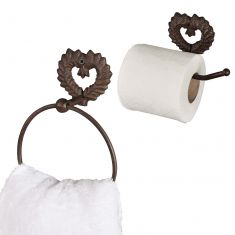 Antique Brown Wall Mounted Bathroom Set