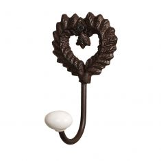 Isabelle Antique Brown Heart Hook
