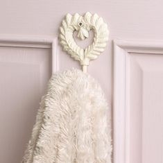 Isabelle Ivory Heart Shaped Wall Hook