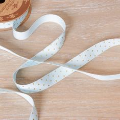 Blue and Gold Cotton Gift Wrap Ribbon