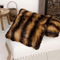 Rich Brown Faux Fur Cushion