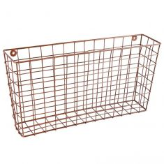 Copper Wall Mounted Storage Basket