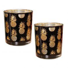 Set of 2 Pineapple Tea Light Holders