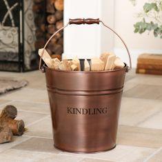 Large Copper Kindling Bucket