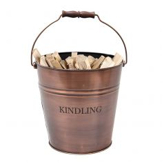 Large Copper Kindling Bucket