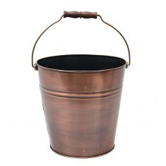 Brushed Copper Coal Bucket