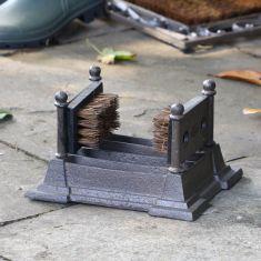 Cast Iron Combination Boot Brush & Shoe Scraper