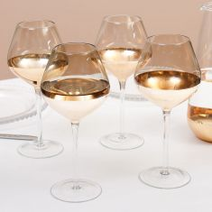 Set of 4 Smoked Gold Water Glasses