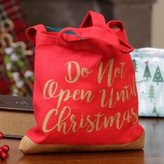 Red and Gold Fabric Christmas Gift Bag