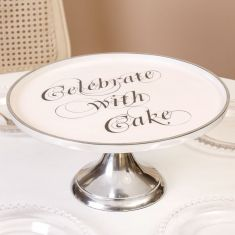 Celebrate with Cake Large Silver Footed Cake Stand