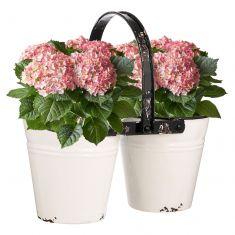 Vintage Distressed Double Flower Pot