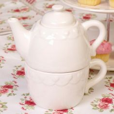 Country Cream Tea For One Teapot and Mug
