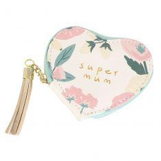 Super Mum Floral Heart Coin Purse