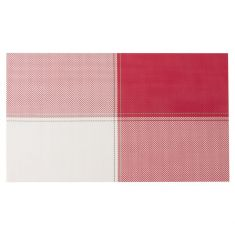 Set of 4 Red and White Woven Heatproof Placemats