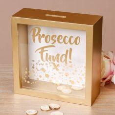 Gold Prosecco Fund Money Box