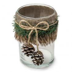 Rustic Woodland Pine Cone Candle Holder