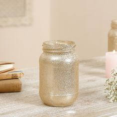 Champagne Gold Glitter Candle Holder