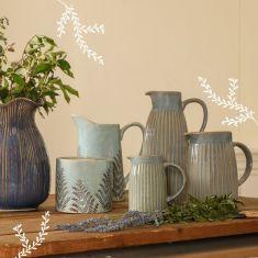 Autumn Blue Ceramic Jugs