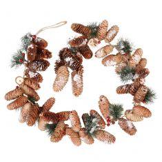 Preserved Pine Cones Garland