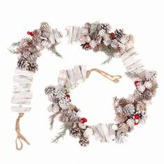 Rustic Pine Cone Nordic Christmas Garland