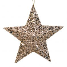 Champagne Gold Star Christmas Decoration
