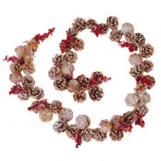 Pine Cone Winter Berry Garland