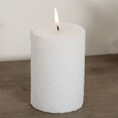 Deluxe White Cylinder Candle