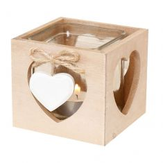 Rustic Heart Shaped Tealight Candle Lantern
