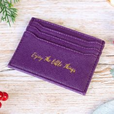 Enjoy The Little Things Purple Card Holder