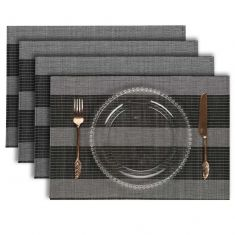Set of 4 Bamboo Woven Placemats