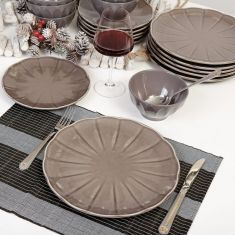 Bevelled Grey Luxury Tableware