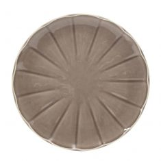 French Grey Ceramic Dinner Plate