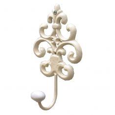 Ivory Fleur De Lys Wall Hook