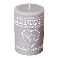 Winter Grey Nordic Stag Candle
