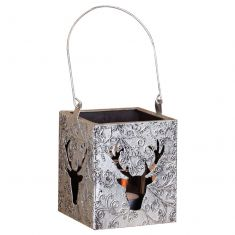 Silver Stag Tealight Candle Holder