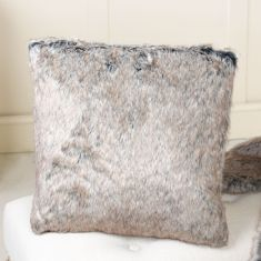 Atsina Grey Faux Fur Cushion